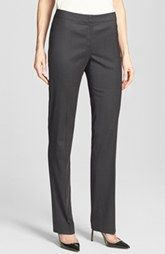 Top Quality Lafayette 148 New York Barrow Pinpoint Stretch Wool Suiting Pants Ads Immediately