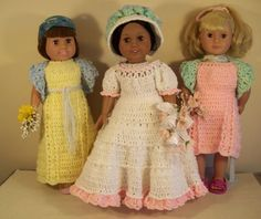 Free crochet pattern for American Girl or 18 doll. PDF link