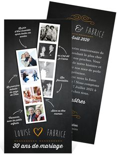 "Résultat de recherche d'images pour ""invitation 30 ans"" 10 Year Anniversary, 50th Wedding Anniversary, Invitation Design, Invitation Cards, Save The Date, Brunch Wedding, Mom And Dad, Birthday Invitations, Mini Albums"