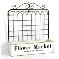 Gracie Oaks Ukee Flower Market Gate Metal Planter Box with Trellis | Wayfair