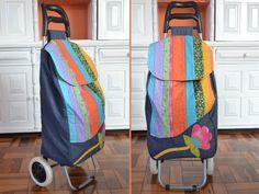 Bolsa carrinho com tiras de tecido