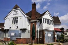The Organ and Dragon, previously Jim Thompson's and originally the Organ Inn, London Road, Ewell. Now demolished. Kingston Upon Thames, Hampton Court, Historical Images, West London, Surrey, Old Photos, Shed, Dragon, Outdoor Structures