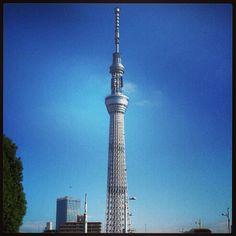 東京スカイツリー (Tokyo Skytree) in 東京, 東京都.  Visited the Tokyo Skytree tower.  Best views of Tokyo can be seen from the top!
