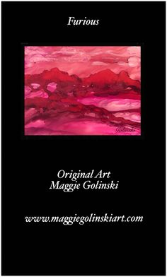 #kickstarter #artlover #homedecor #originalart #abstractart #abstractartist #artpatron #alcoholink #interiordesignart Furious - vibrant red dreamscape by British artist Maggie Golinski created using alcohol inks. Visit www.maggiegolinskiart.com for more information #abstract #alcoholink #smallpainting #Golinski #dreamscape