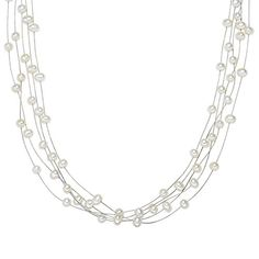 Valero Pearls Classic Collection Damen-Kette SW-Zuchtperlen oval weiß 925 Sterling Silber    50 cm   400311 - http://schmuckhaus.online/valero-pearls-12/valero-pearls-classic-collection-damen-kette-sw