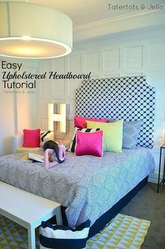 easy diy uphostered headboard tutorial