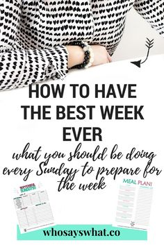 How to prepare for your week with 8 simple routines.  Start off your week with a bang by adding these eight simple habits to your Sundays.  Use our free meal planning printable and successful Sunday printable to organize your Sunday and prepare for the week ahead.