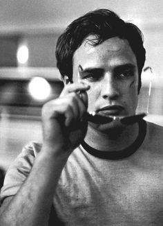 Marlon Brando white t too cool for school