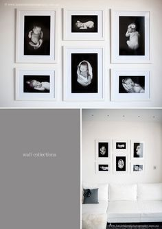 black and white photo display of a sweet little baby! Timeless.