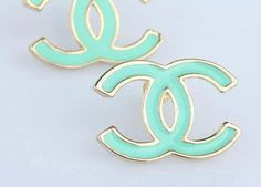 Turquoise Chanel Earrings. Need these!