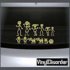 VW Family Car Stickers|Family Vinyl Decal Family Kits - VinylDisorder.com