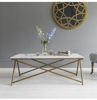 Stellar White Marble Coffee Table