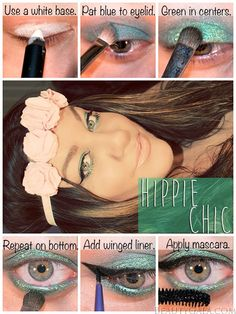 Hippie Chic, 1970's, Woodstock, Coachella Makeup Tutorial!