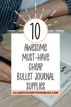 Here are 10 bullet journaling supplies that are must-haves and aren't going to break the bank.  Plus 3 things I think are a waste of money.  Bullet Journal Ideas.  Bullet Journal Layouts.  Bullet Journal Supplies.  #bulletjournal #bulletjournallayouts #bulletjournalsupplies Journal Prompts, Journal Ideas, Journals, Bullet Journal Hacks, Bullet Journal Layout, Erasable Highlighters, Tombow Markers, Mental Health Journal, Journal Organization