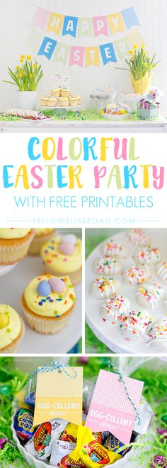 Cute and Colorful Easter Party Printables #ad