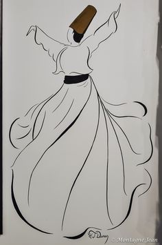 Black and white mural Islamic Art Pattern, Pattern Art, Images D'art, Art Du Croquis, Creation Art, Islamic Paintings, Islamic Wall Art, Arabic Calligraphy Art, Turkish Art