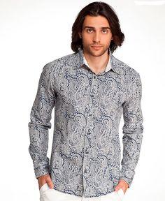 модная рубашка с отделкой подворотника однотонной тканью