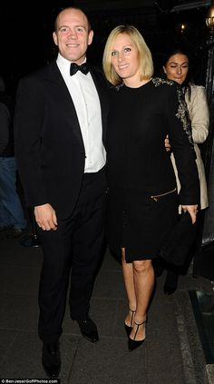 Zara Phillips MBE and husband Mike Tindall stepped out in style at a private members club in London, to celebrate the Six Nations 2015 rugby tournament with a VIP black tie dinner