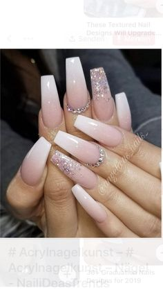 36 Pretty Nude &Ombre Acrylic And Matte White Nails Design For Short And Long Nails : Page 31 of 36 : Creative Vision Design Summer Acrylic Nails, Cute Acrylic Nails, Gel Nails, Summer Nails, Wedding Acrylic Nails, Coffin Shape Nails, Pink Acrylics, Wedding Nails, Edgy Nails