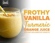Orange Julius Has Nothing On This Frothy Vanilla Turmeric Orange Juice - Frothy Vanilla Turmeric Orange Juice with Anti-Inflammatory Benefits - Anti Inflammatory Foods List, Anti Inflammatory Smoothie, Nutribullet Recipes, Smoothie Recipes, Cleanse Recipes, Juice Smoothie, Smoothies, Yummy Drinks, Healthy Drinks