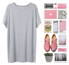 """""""Pulse"""" by chelseapetrillo ❤ liked on Polyvore featuring Organic by John Patrick, Dr. Martens, Paper Mate, Lux-Art Silks, Herbivore Botanicals, Dr.Ci:Labo, Balenciaga, Pasionae, Pink and clean"""
