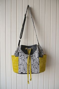 New! The Dahlia Drawstring Bucket Bag - PDF Sewing Pattern 25% Off Release price