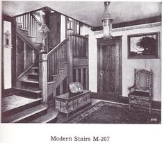 """Stair parts published in millwork catalog in1921 by the Morgan Woodwork Organization and called """"Building with Assurance."""""""