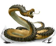Seps (Medieval Bestiaries) - Snake with highly corrosive venom
