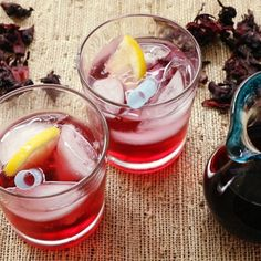 Hibiscus Syrup | Keep this sweet, tart, and floral syrup on hand for adding extra zing and beautiful ruby red color to margaritas, rum punches and daiquiris. Or just pour over ice and add club soda for a delicious fresh soda.