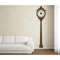 Originales y divertidos relojes de pared realizados con vinilos decorativos. Darán un toque personalizado a tus paredes
