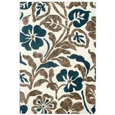 Handmade Bontancial Ivory New Zealand Wool Rug | Overstock.com 5x8 $234