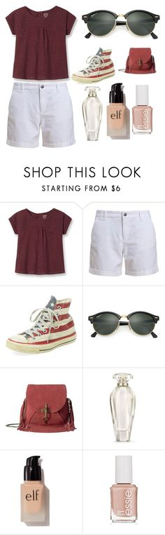 """Sans titre #5211"" by yldr-merve ❤ liked on Polyvore featuring Barbour, Clinical Care Skin Solutions, Ray-Ban, Lucky Brand, Victoria's Secret, e.l.f. and Essie"