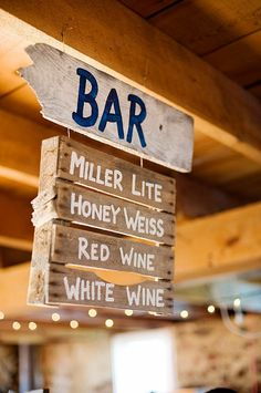 Bar sign *This looks like it would be perfect for a beach themed wedding*