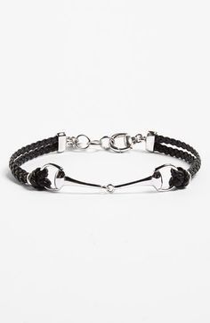 Gucci 'Horsebit' Leather Bracelet available at #Nordstrom
