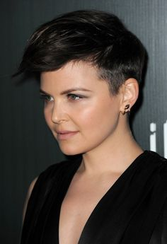 This makes me want to cut my hair off again after growing it out for almost a year! Gennifer GOodwin, faux hawk