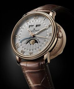 Plancpain Villeret moon phase watch