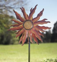 Kinetic garden sculpture | ... gifts by occasion metal sun spinner kinetic garden sculpture 411110