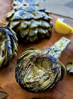 Grilled Artichokes Recipe (These grilled artichokes are simple, don't need a lot of prep, and loved by all. They're also just the conversation starter your next barbecue needs. Grilled Vegetable Recipes, Grilling Recipes, Cooking Recipes, Campfire Recipes, Vegetarian Recipes, Grilled Artichoke, Artichoke Recipes, Healthy Cooking, Recipes
