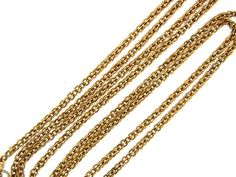 English Victorian Long Gold Chain