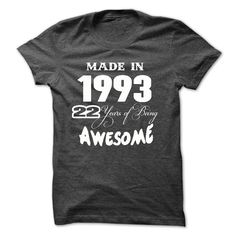 Awesome 1993 Made In T-Shirts, Hoodies. Check Price Now ==►…