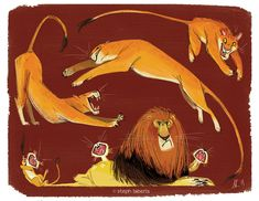 Lions go Rawr Part 2! by Steph-Laberis.deviantart.com on @deviantART