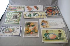 LOT Of 20 Reproduction Vintage Postcards Easter St Patricks Day Valentines  #VintagePostcards