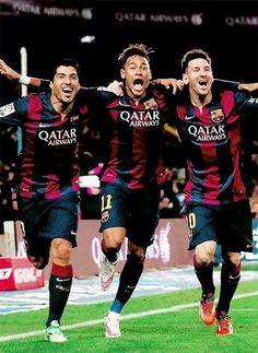 Lionel Messi, Suarez, Neymar #Barcelona La delantera mas peligrosa del planeta