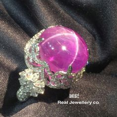 @anna_shia.  Star Pink Sapphire with diamonds ring。誠記 Real Jewellery co.。