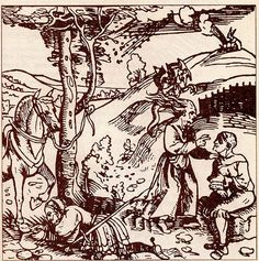 #WitchcraftWednesday  Spell in the fields  Anonymous German engraving of the sixteenth century