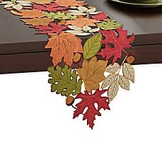 Add a hint of autumn to your casual, or formal dining experience with the whimsical Serene Leaves Table Runner. This beautiful, fall inspired cutwork, fabric table runner is the perfect festive addition to your table this Thanksgiving. Thanksgiving Crafts, Fall Crafts, Diy And Crafts, Leaf Table, Diy Table, Purple Table, Felt Leaves, Lace Table Runners, Fall Table