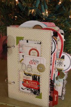 Beautiful little album - blackflipflops: Christmas Craftiness
