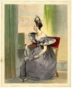 marinni | Achille Devéria(1800-1857).Быт, мода и томные дамы.