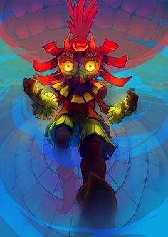 Majoras Mask - Skull kid's descent by Affanita on DeviantArt Nintendo Art, Game Art, Horror Kids, Majoras Mask Skull Kid, Art, Cartoon Wallpaper, Video Game Fan Art, Fan Art, Ghost Tattoo