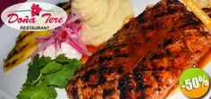 Restaurante Doña Tere en Nuevo Vallarta - $155 en lugar de $310 por 1 Ensalada César + 1 Exquisito Solomillo de Cerdo al Pastor + 1 Naranjada Click http://cupocity.com/